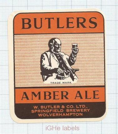 ENGLAND (UK) - W.Butler & Co Springfield Brew Wolverhampton - AMBER - beer label