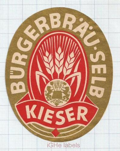 GERMANY - BUrgerbräu Selb KIESER - beer label