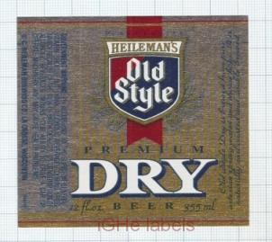 US - Heileman Brew Co, La Crosse WI - OLD STYLE DRY - beer label