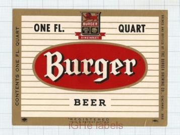US - Burger Brew Co Cincinnati OH - BURGER BEER - beer label