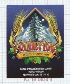 US - Micro, Mile High Brew Co Denver CO - TIMBERLINE White Forest - beer label