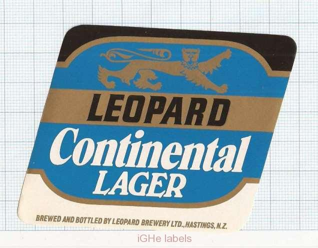 NEW ZEALAND - Leopard Brew Hastings - CONTINENTAL LAGER - beer label
