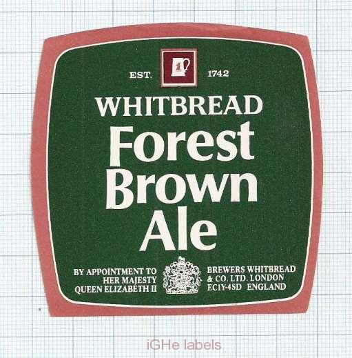 ENGLAND (UK) - Whitbread & Co LTD London - FOREST BROWN ALE - beer label