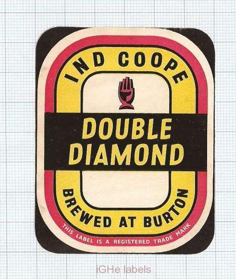 ENGLAND (UK) - Ind Coope Lim Burton-On-Trent - DOUBLE DIAMOND - beer label