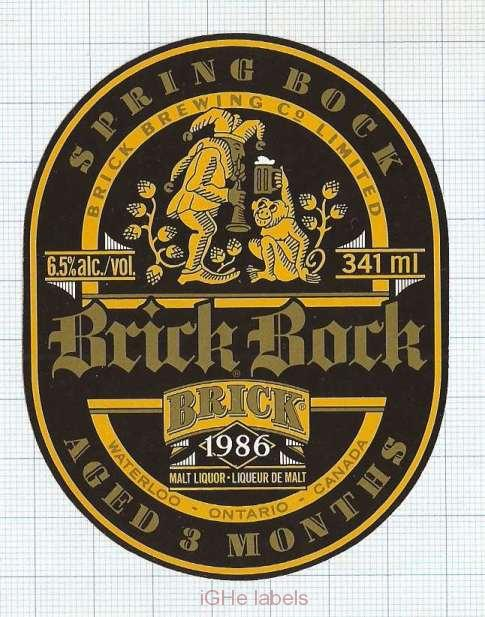 CANADA - Brick Brewing Co Waterloo - BOCK - beer label