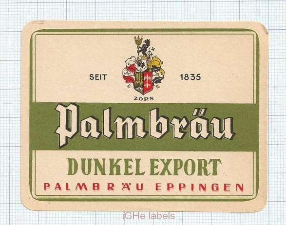 GERMANY - Palmbräu Eppingen - DUNKEL EXPORT- beer label