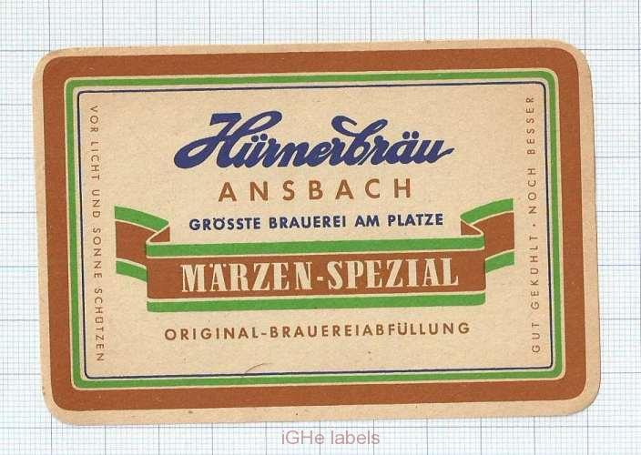GERMANY - Hurnerbräu Ansbach - Märzen Spezial - beer label