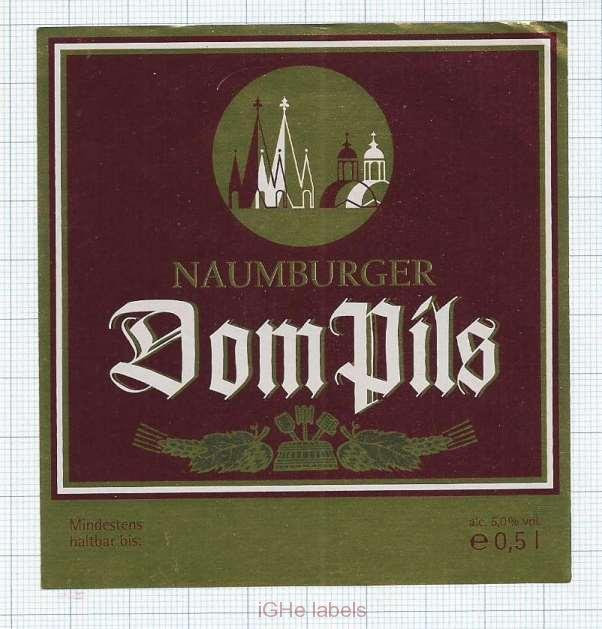 GERMANY - Naumburger DOM PILS - beer label