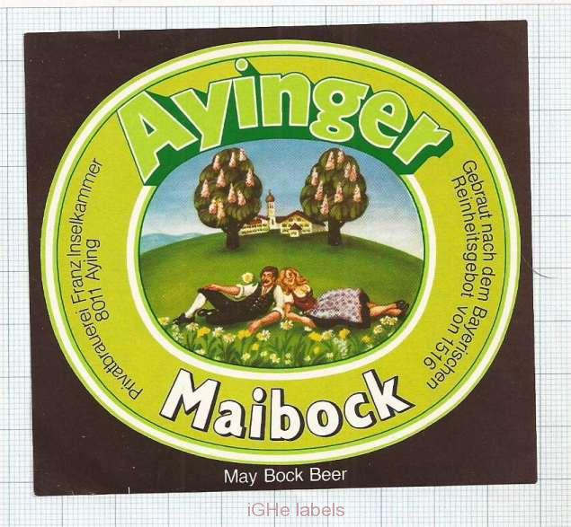 GERMANY - Brauerei Aying Aying - MAIBOCK woman - beer label
