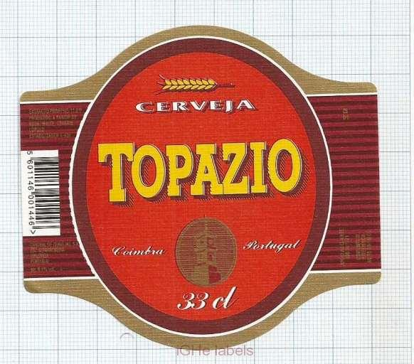 PORTUGAL - Central de Cervejas Coimbra - TOPAZIO - beer label