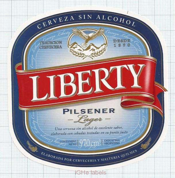 ARGENTINA - Quilmes, Buenos Aires - LIBERTY - beer label
