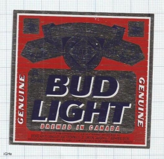 CANADA - BUD LIGHT - beer label