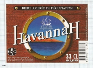 NEW CALEDONIA - Micro, Noumea HAVANNAH (sailboat) - beer label