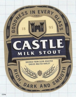 SOUTH AFRICA - CASTLE Milk STOUT - Beer label