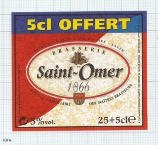 FRANCE - Saint Omer - 1866 SAINT OMER - beer label