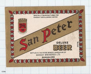 INDIA - Khoday Brew Bangalore - SAN PETER - beer label