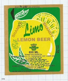 INDIA - Winsome Brew Sarehkhurd - LEMON BEER - beer label