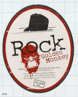 COSTA RICA - Cervecería Costa Rica San Jose - ROCK Golden Monkey - beer label