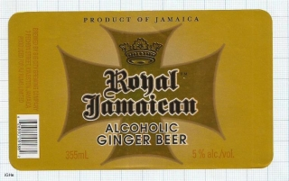 JAMAICA - Big City Brew Co Kingston - ROYAL JAMAICAN - beer label