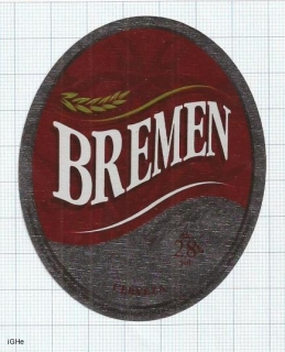 COSTA RICA - La Florida, S.A. Heredia - BREMEN - beer label