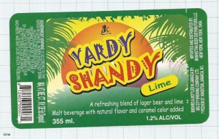 JAMAICA - Big City Brew Co Kingston - YARDI SHANDY LIME - beer label