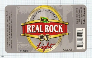 JAMAICA - Big City Brew Co Kingston - REAL ROCK - beer label
