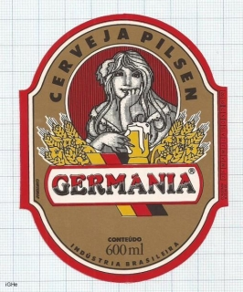 BRAZIL - Cervejaria Germânia Vinhedo SP - GERMANIA woman - beer label