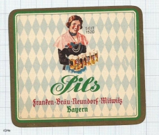 GERMANY - Franken Bräu Neundorf-Mitwitz - PILS woman - beer label
