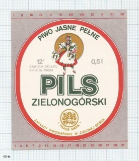 POLAND - Zielona Gora - PILS - sexy woman - beer label