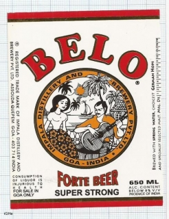 INDIA - Impala Distillery & Brew.Assolda-Quepem-Goa - BELO woman - beer label