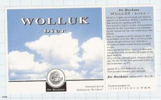 HOLLAND - Micro, De 3 Horne Kaatsheuvel - WOLLUK bier - beer label