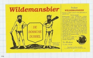 HOLLAND - Micro, De 3 Horne Kaatsheuvel - WILDEMANSBIER - beer label