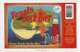HOLLAND - Micro, Texelse Oudeschild - BOCK Bier lighthouse beer label