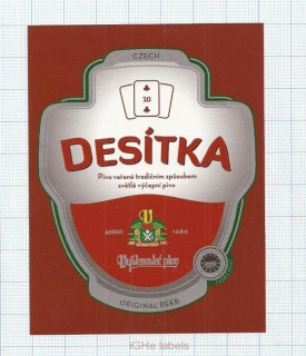 CZECH REPUBLIC - Vyškov - DESITKA sport - beer label