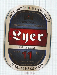 CZECH REPUBLIC - Micro, Pivovar Lyer Modrava - 11 - beer label