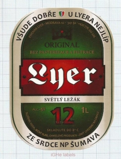 CZECH REPUBLIC - Micro, Pivovar Lyer Modrava - 12 - beer label