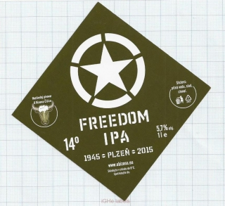 CZECH REPUBLIC - Micro, U Bizona Čižice Štěnovice - FREEDOM IPA - Beer label