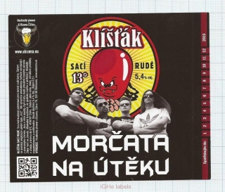 CZECH REPUBLIC - Micro, U Bizona Čižice Štěnovice - KLISTAK - Beer label