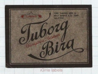 TURKEY - Türk Tuborg Izmir - TUBORG BIRA - beer label