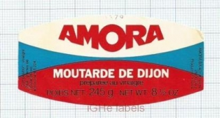 FRANCE - Amora Moutarde de Dijon - beer label