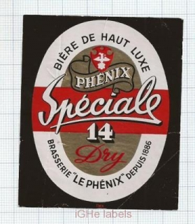 FRANCE - Brasserie Le Phenix - SPECIALE 14 - beer label