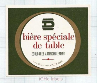 FRANCE - Biere Speciale de Table - beer label
