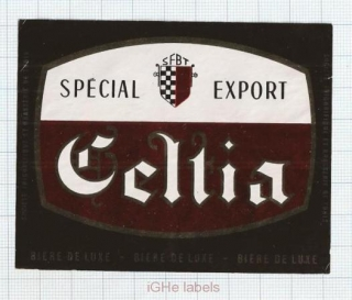 TUNISIA - SFBT, Tunis - CELTIA - beer label