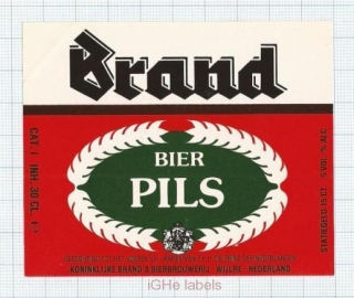 HOLLAND - Brand Bierbrouwerij Wijlre - PILS - beer label