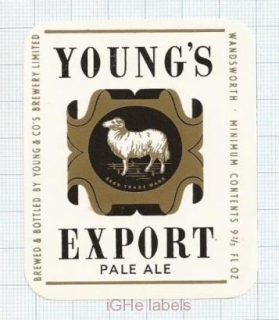 ENGLAND (UK) - Young & Co Brew Wandsworth - EXPORT - beer label