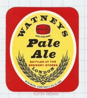 ENGLAND (UK) - Watneys Brew London - PALE ALE - beer label