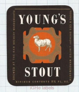 ENGLAND (UK) - Young & Co Brew Wandsworth - STOUT - beer label
