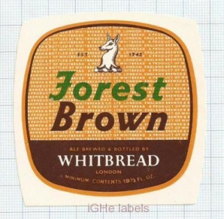 ENGLAND (UK) - Whitbread Brew London - FOREST BROWN - beer label