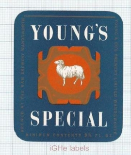 ENGLAND (UK) - Young & Co Brew Wandsworth - SPECIAL - beer label