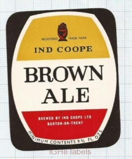 ENGLAND (UK) - Ind Coope Lim Burton-On-Trent - BROWN ALE - beer label